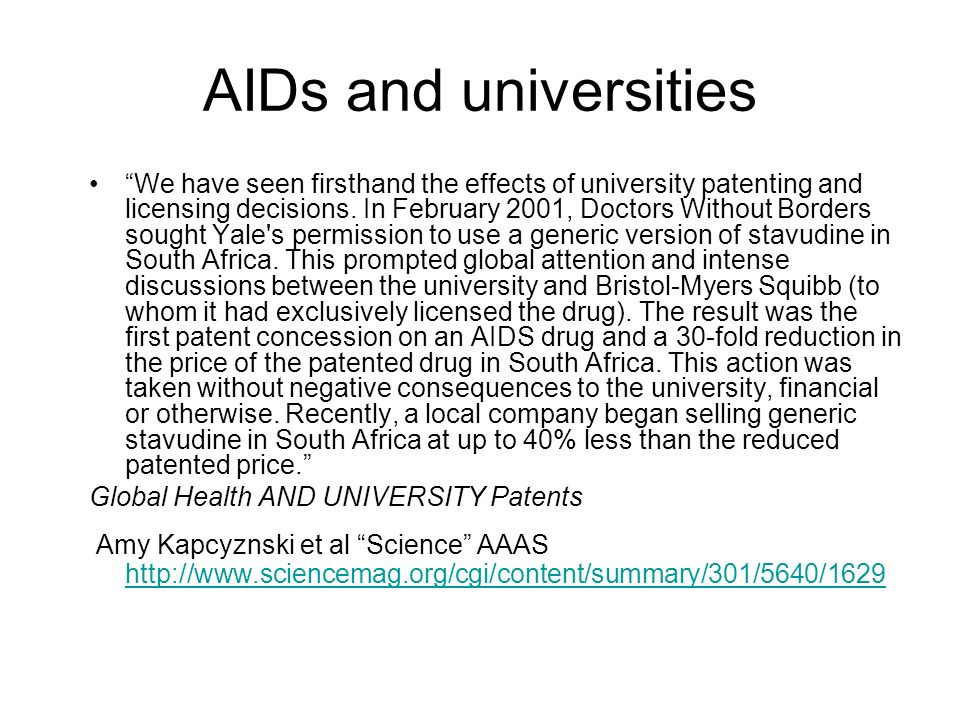 AIDs and universities