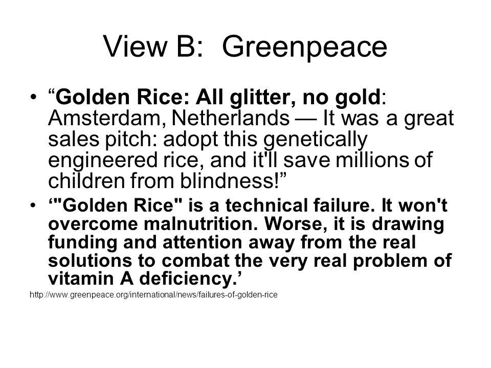 View B: Greenpeace