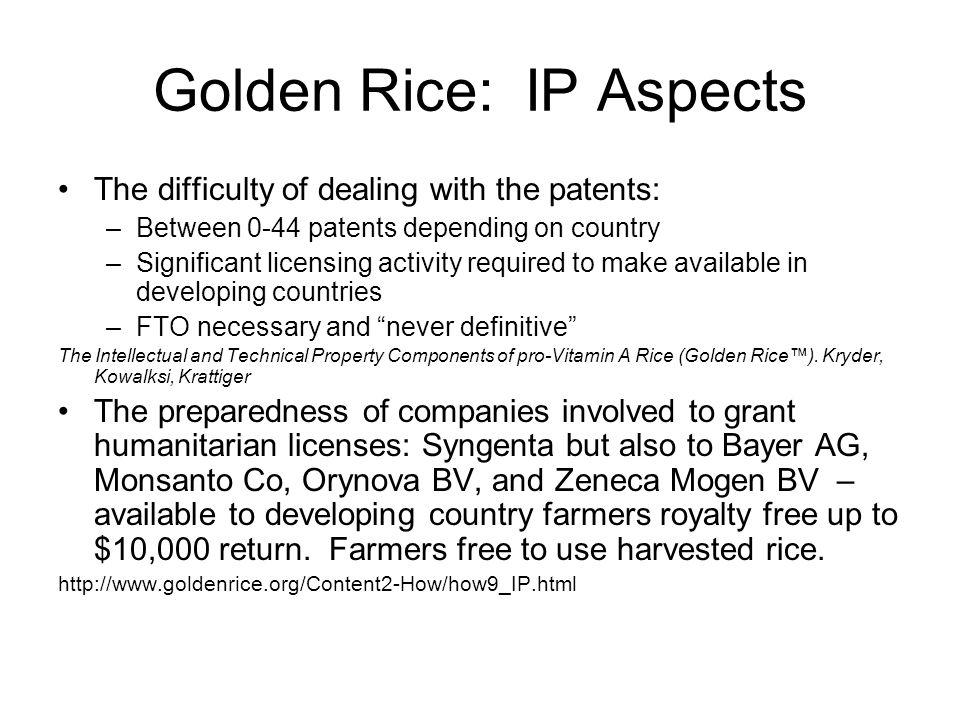 Golden Rice: IP Aspects