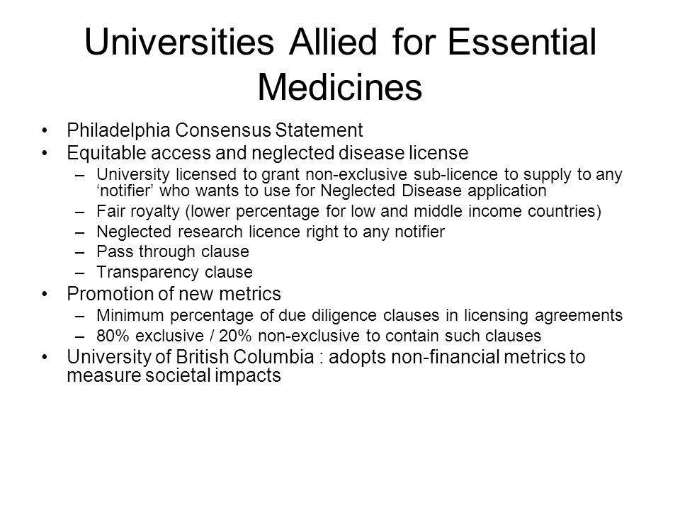 Universities Allied for Essential Medicines
