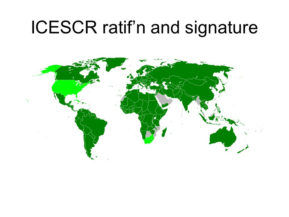 ICESCR ratif'n and signature
