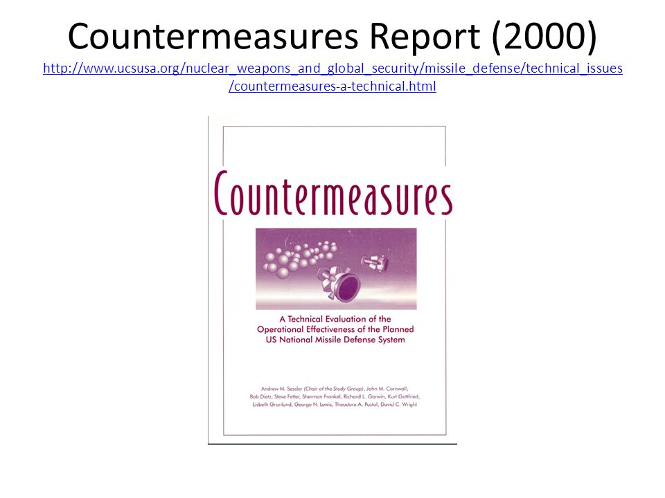 Countermeasures Report (2000) http://www. ucsusa