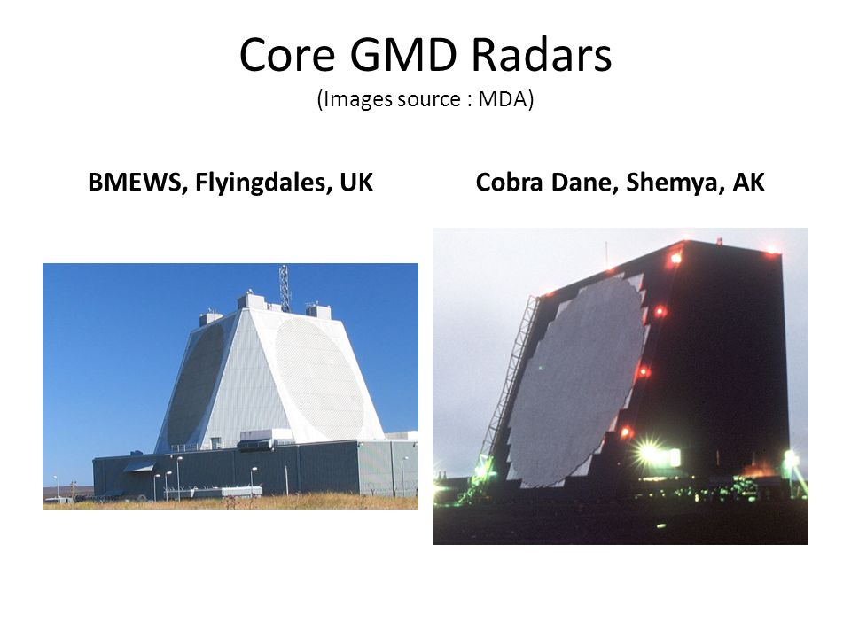 Core GMD Radars (Images source : MDA)