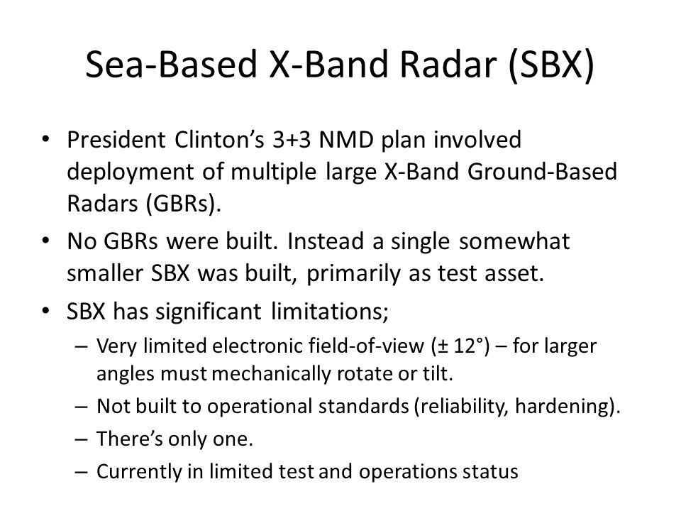 Sea-Based X-Band Radar (SBX)