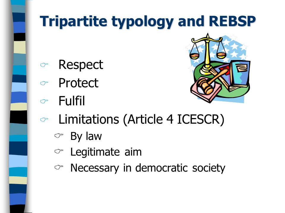 Tripartite typology and REBSP