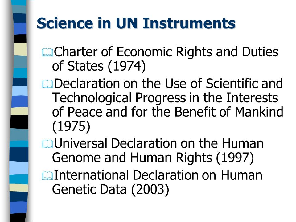 Science in UN Instruments