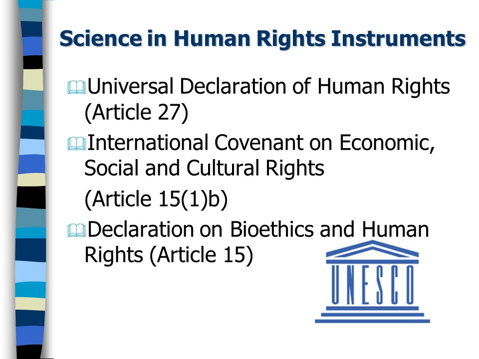 Science in Human Rights Instruments