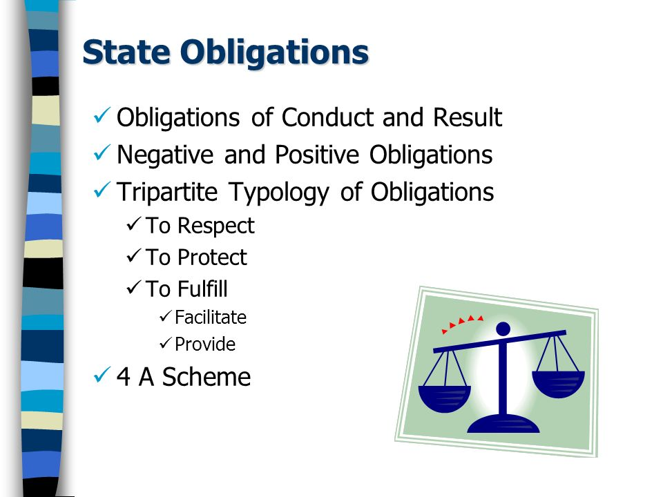 State Obligations Obligations of Conduct and Result