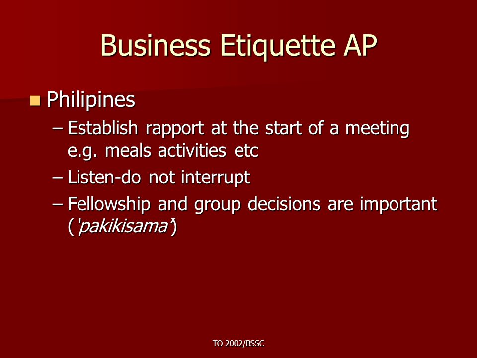 understanding business etiquette and its importance in a company Culture is an important part of international business because it defines the collection of beliefs, values, behavior, customs and attitude of the member in the society culture is basically.