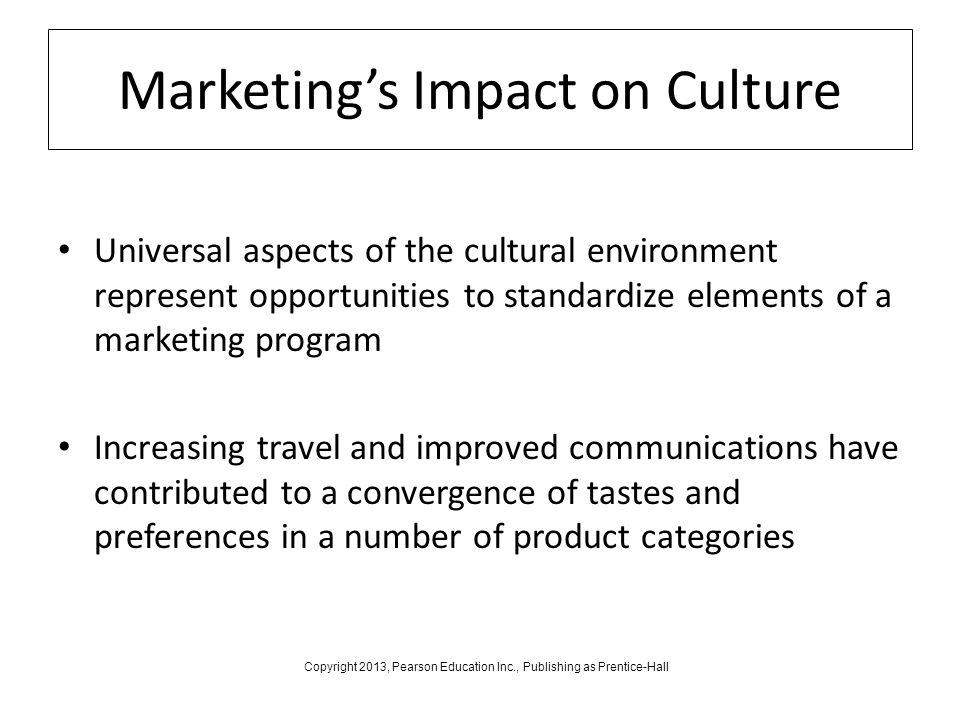 how cultural environment impacts the marketing Cultural sensitivity and its impact on business relationship school of marketing, university of technology to the cultural aspects of buyer-seller.