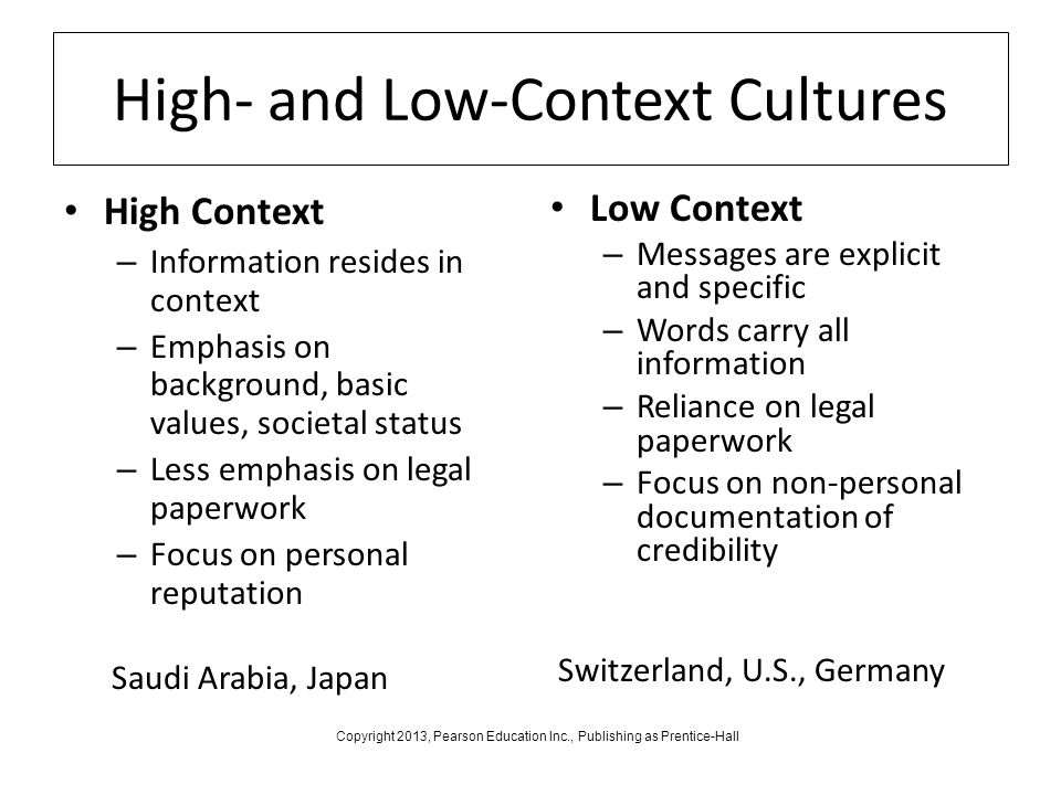 high and low context cultures hofstede's Edward hall's model of low-context and high-context cultures is one of the dominant theoretical  hofstede's cultural  a critique of hall's contexting model:.