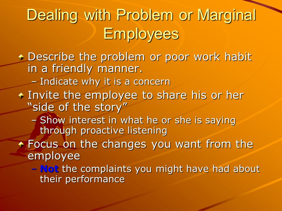 Dealing with Problem or Marginal Employees