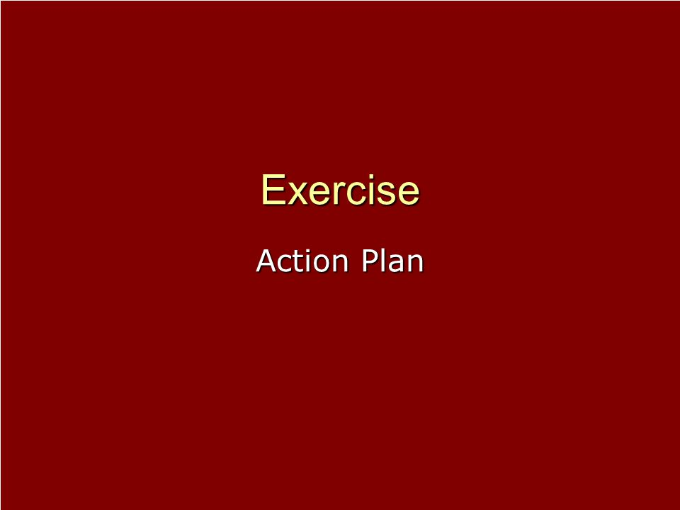 Exercise Action Plan.