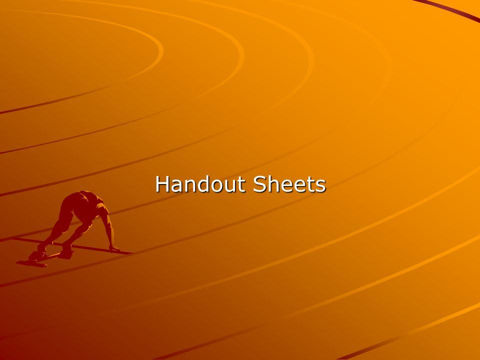 Handout Sheets