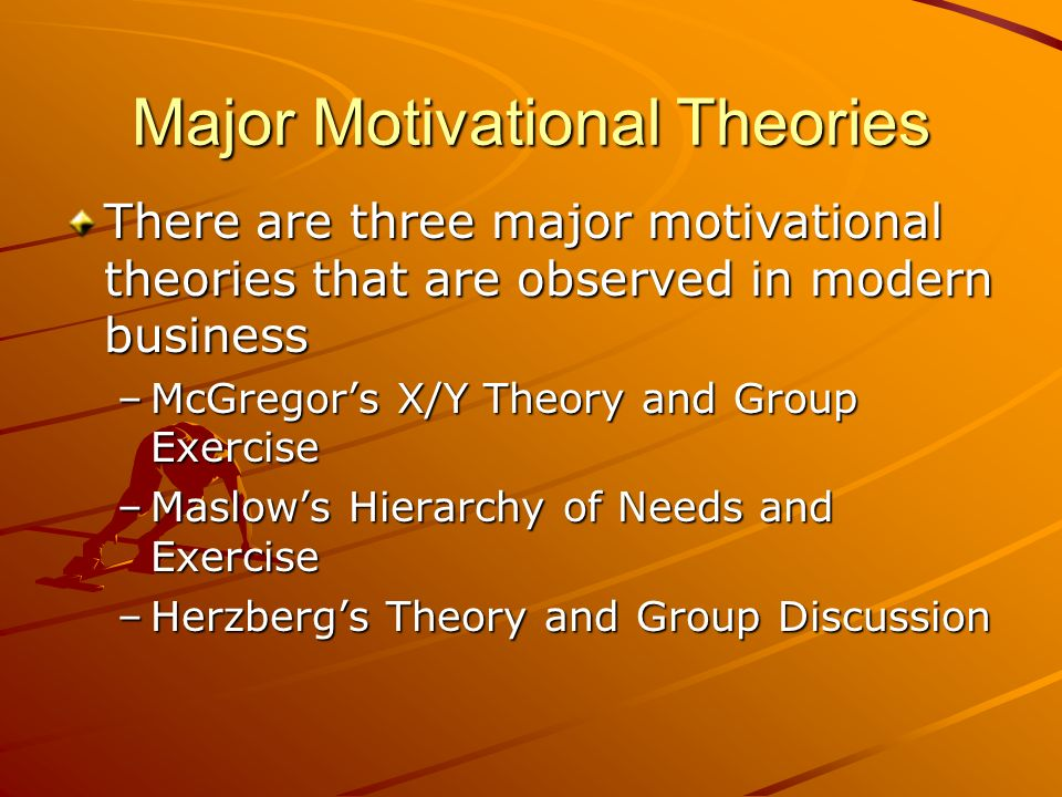 Major Motivational Theories