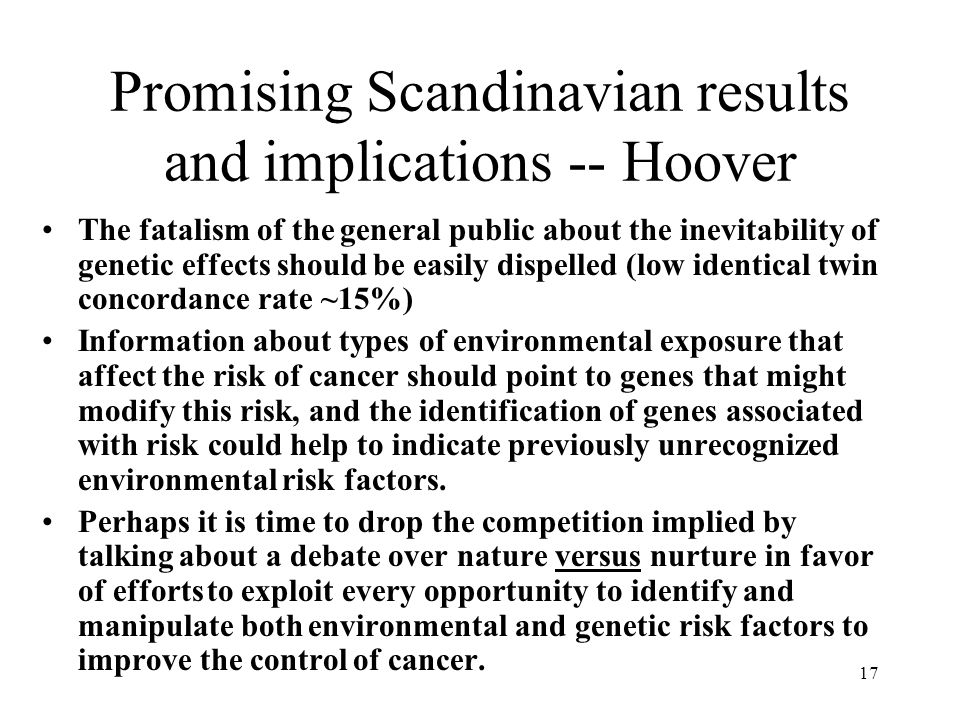 Promising Scandinavian results and implications -- Hoover