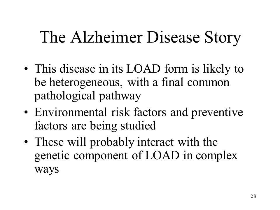 The Alzheimer Disease Story