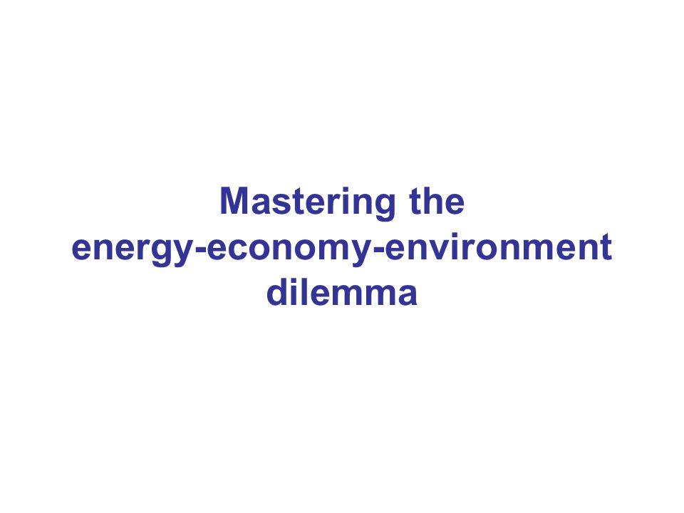 Mastering the energy-economy-environment dilemma