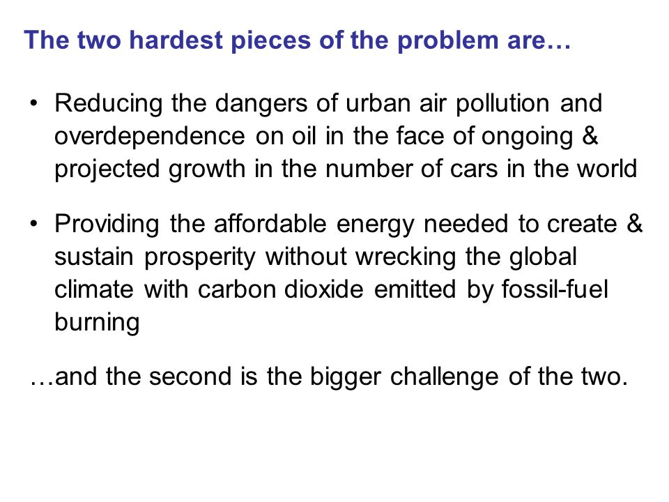 The two hardest pieces of the problem are…