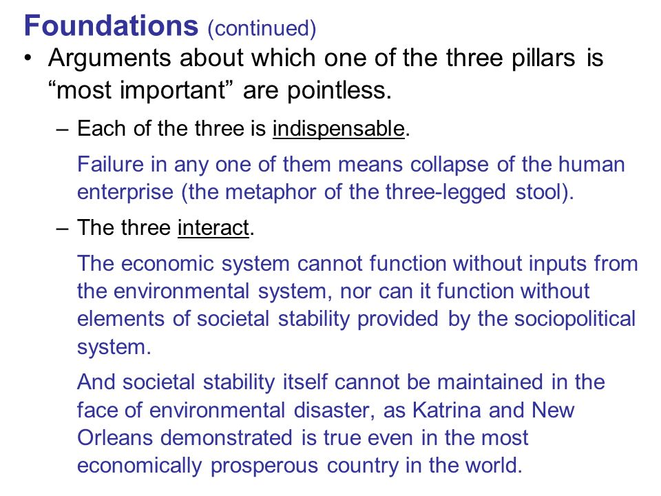 Foundations (continued)
