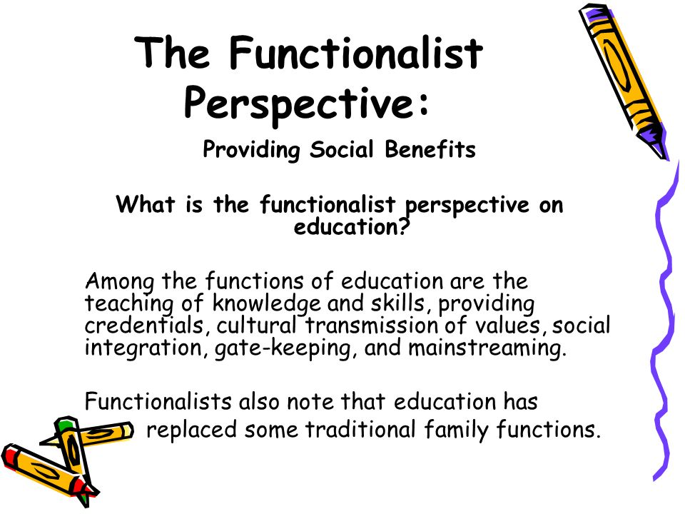 how functionalist view social policies in the society Functionalist theory of the media the mass media serves many functions for our society media help to correlate or co-ordinate various parts of the social.