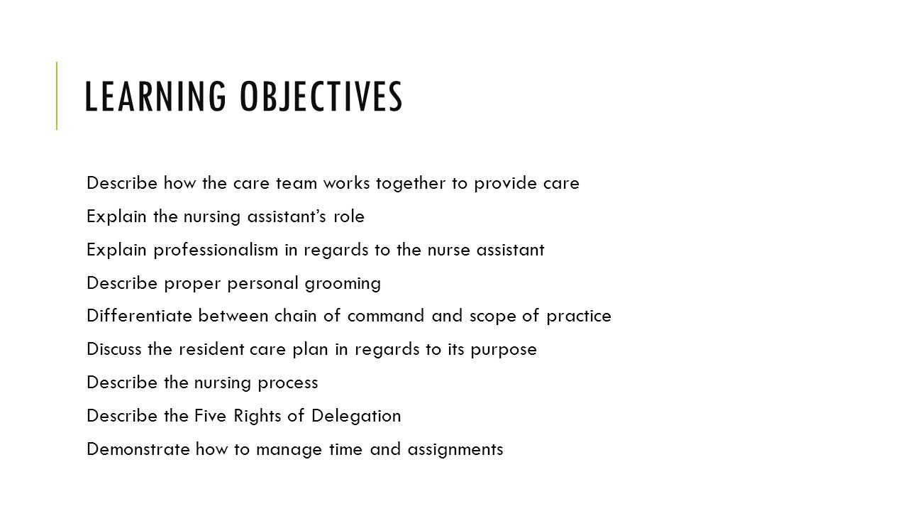 Chapter 2 The Nursing Assistant And The Care Team Ppt Video