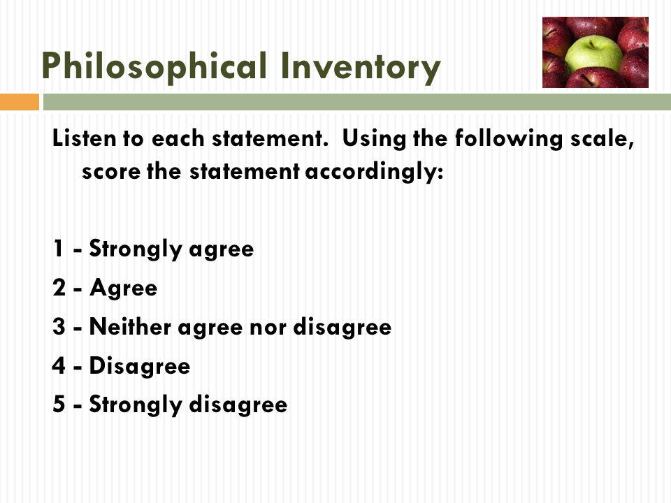 Philosophical Inventory