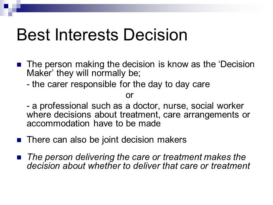Best Interests Decisions Study (BIDS) - academia.edu