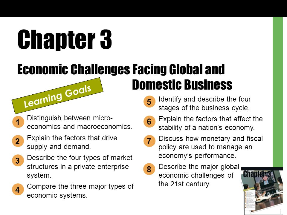 Chapter 3 Economic Challenges Facing Global And Domestic