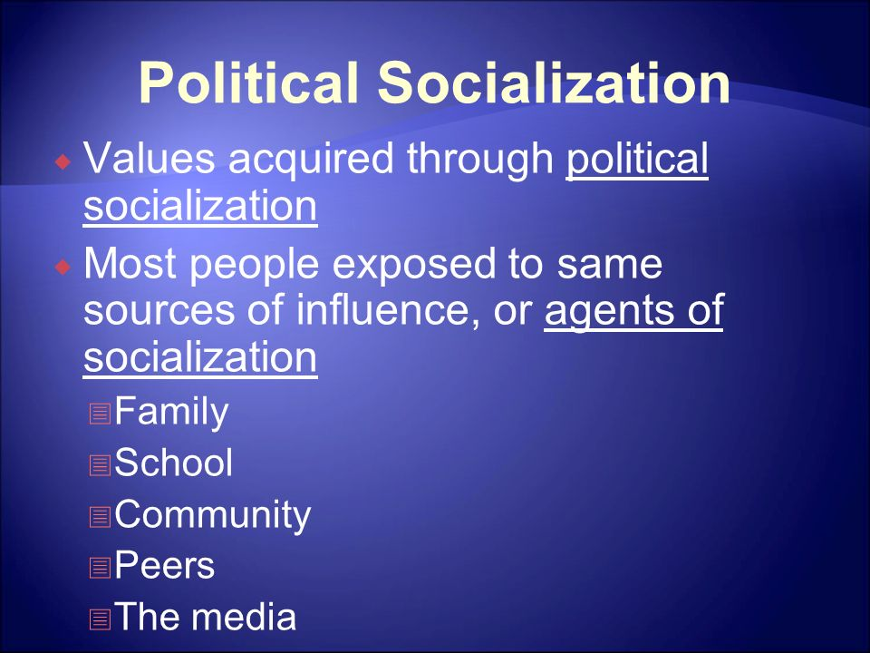 6 Major Agents of Political Socialization