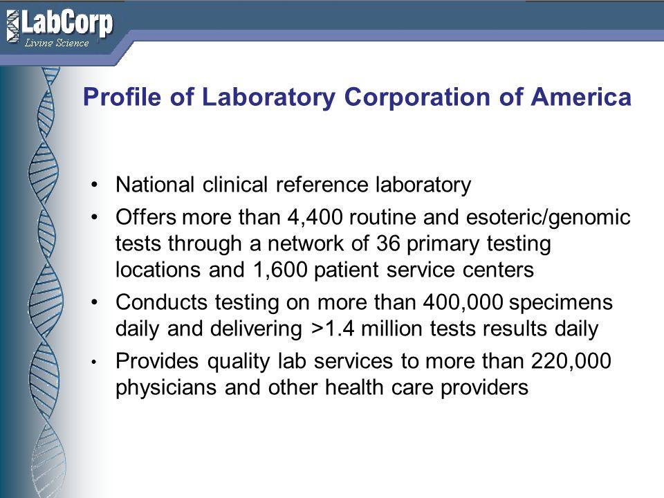 Profile of Laboratory Corporation of America