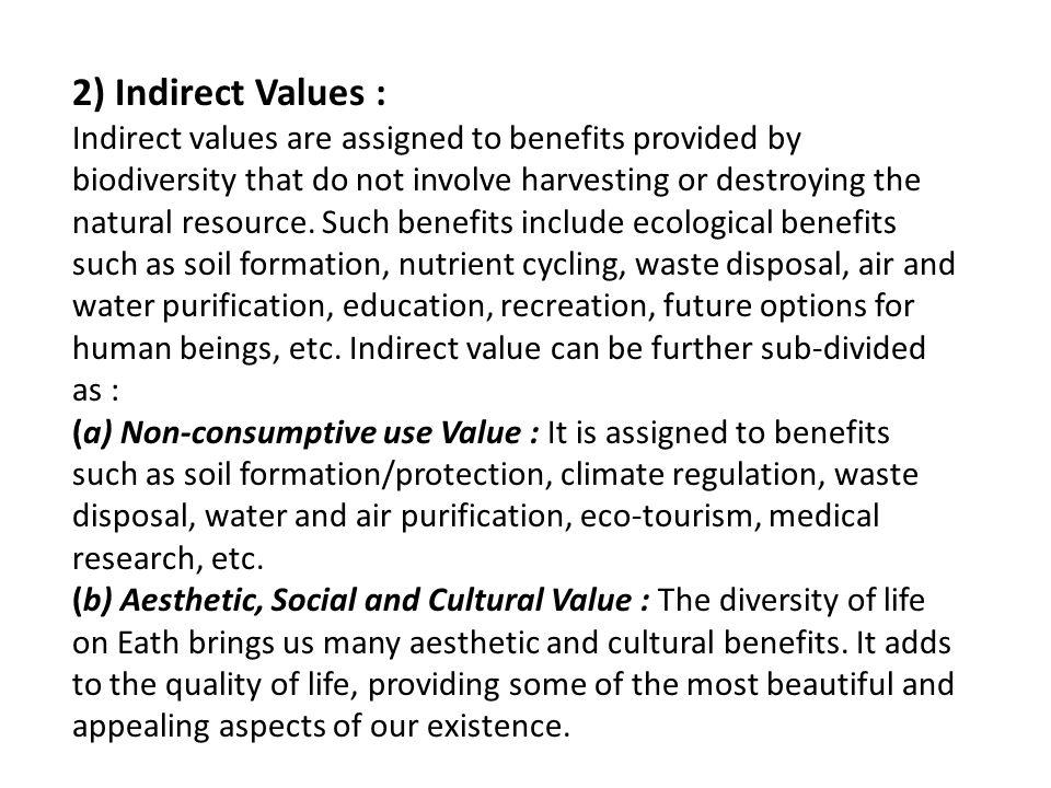 2) Indirect Values :