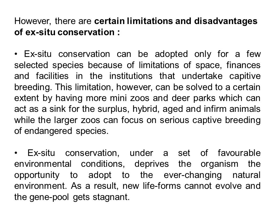 in situ conservation of biodiversity pdf