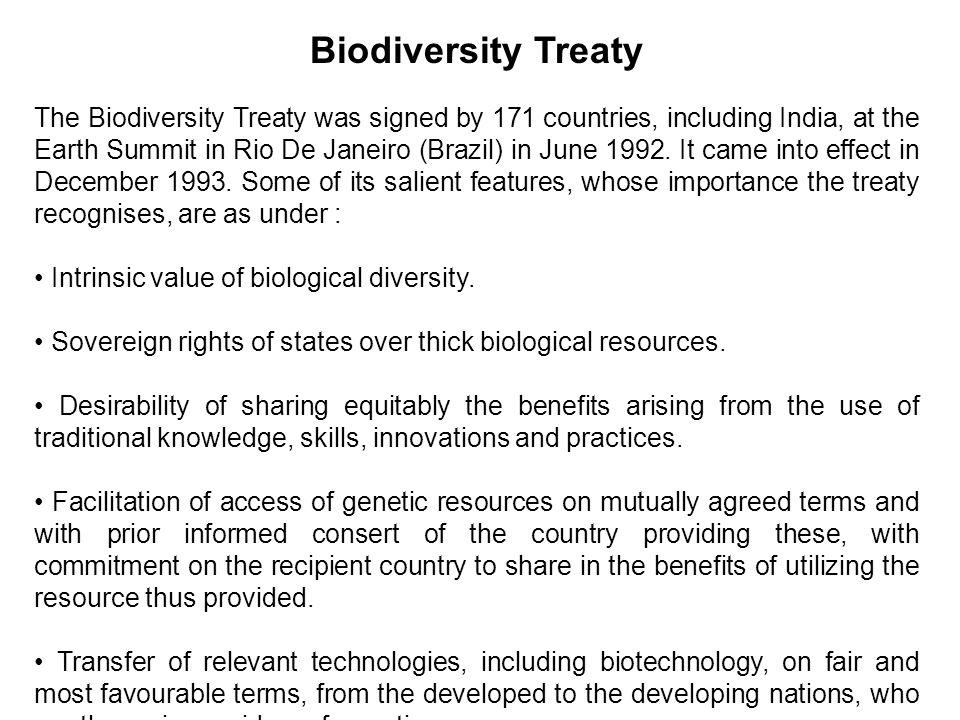 Biodiversity Treaty