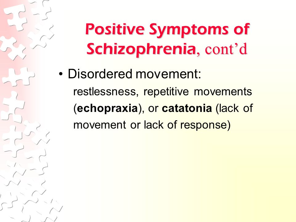a beautiful mind positive symptoms of schizophrenia Schizophrenia in a beautiful mind  positive symptoms include the disturbing experienced of delusions and hallucinations (durand & barlow, 2010) in nash's case.