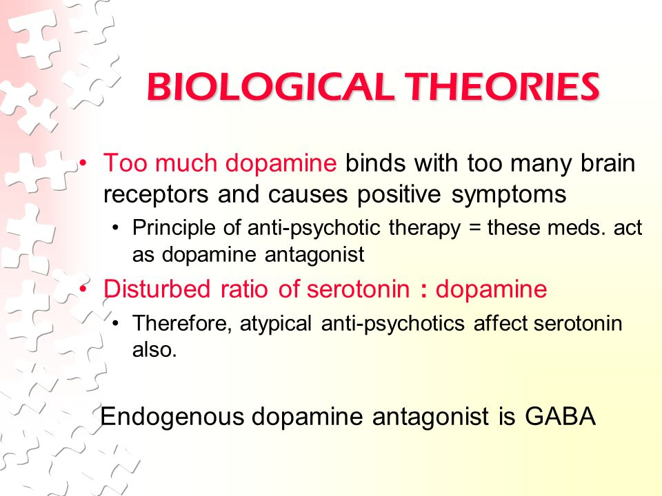 theory of biological causes of schizophrenia Download pdf pdf download for psychoanalytic and biological approaches to mental illness: schizophrenia, article information interactive models which confuse biological causes and psychological consequences, or vice-versa, are theoretically unsound a scientific model towards a theory of schizophrenia behav.