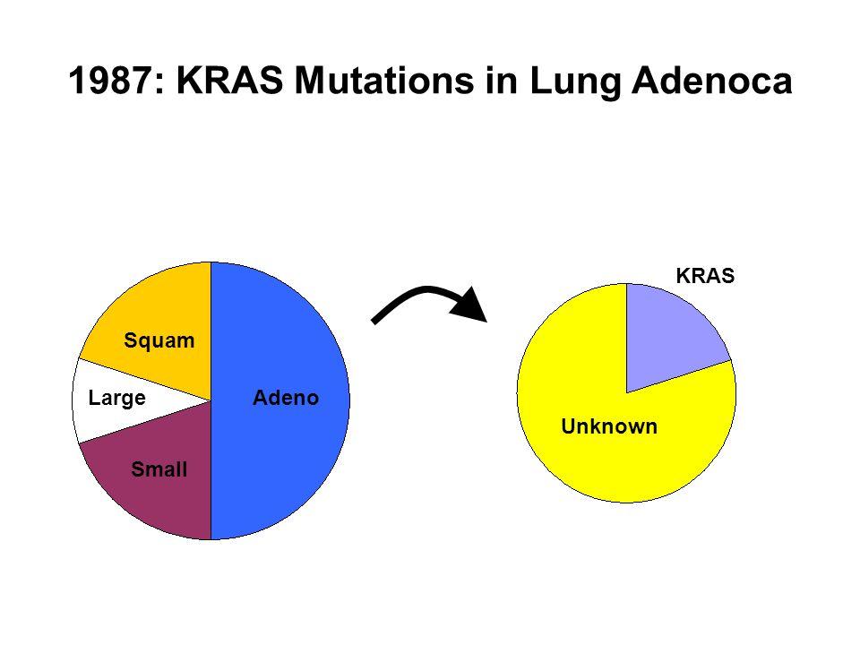 1987: KRAS Mutations in Lung Adenoca