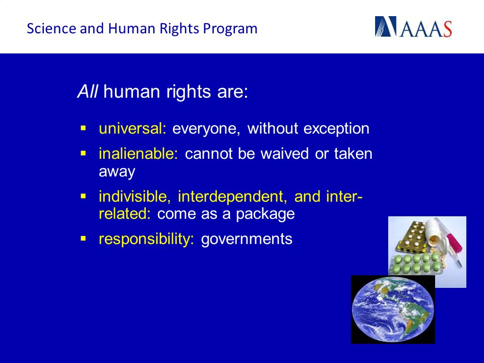 All human rights are: Science and Human Rights Program