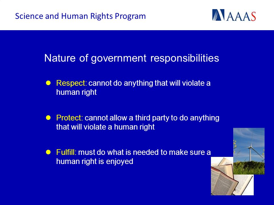Nature of government responsibilities