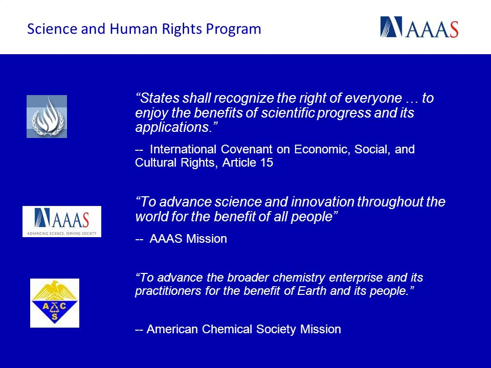 Science and Human Rights Program