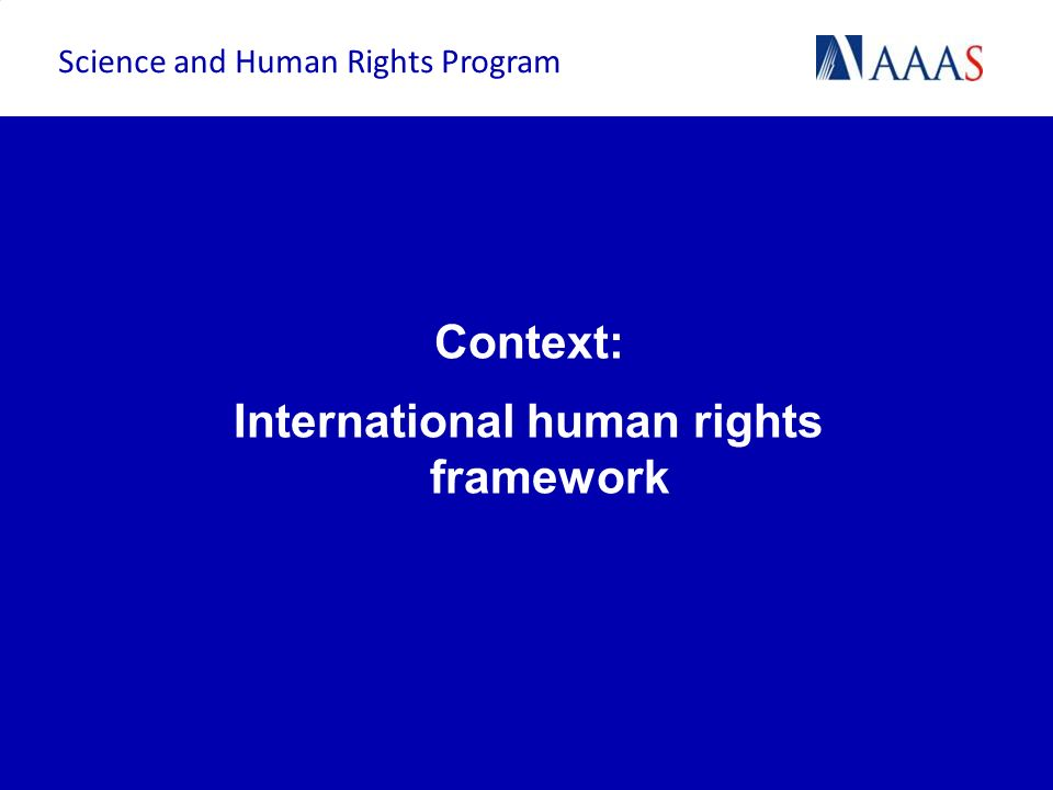 International human rights framework