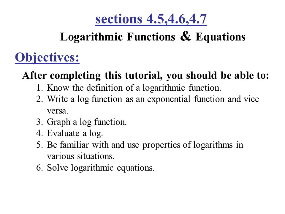 how to find the equation of a logarithmic function