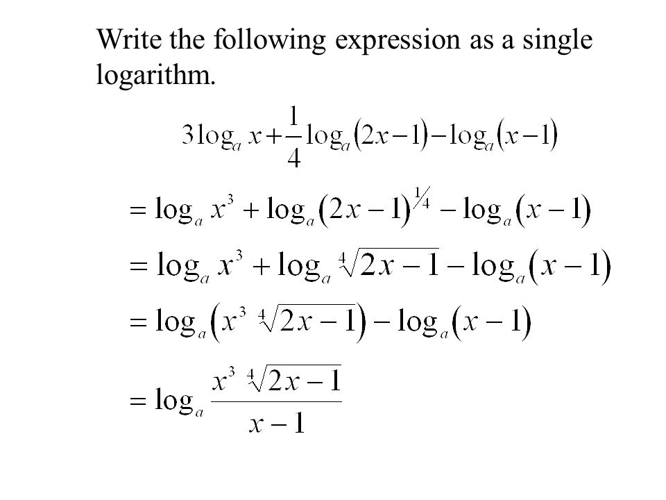 The Logarithm Laws