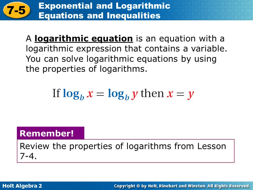 Exponential And Logarithmic Equations Inequalities Worksheet. Objectives Solve Exponential And Logarithmic Equations Rh Slideplayer. Worksheet. Solving Exponential And Logarithmic Functions Worksheet At Mspartners.co