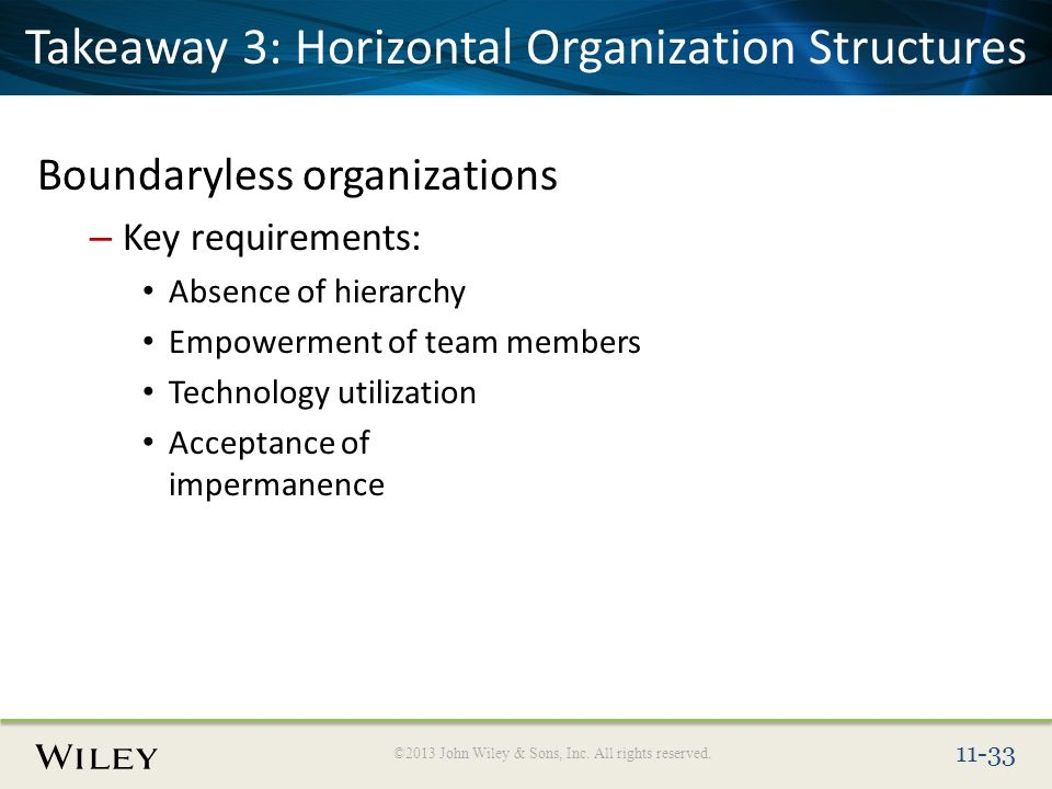boundaryless organisation