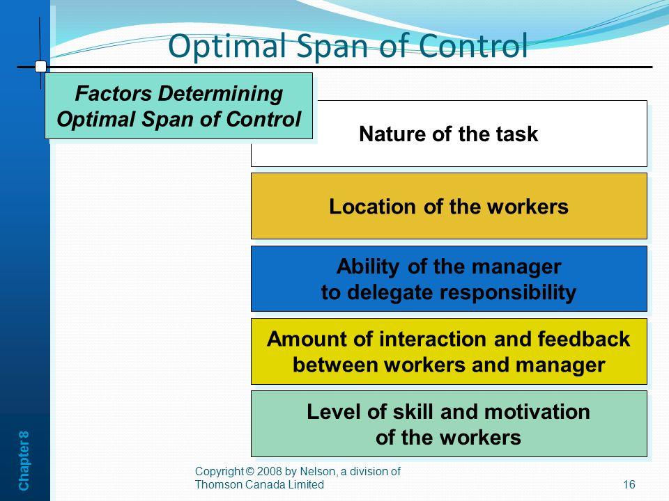 Optimal Span of Control
