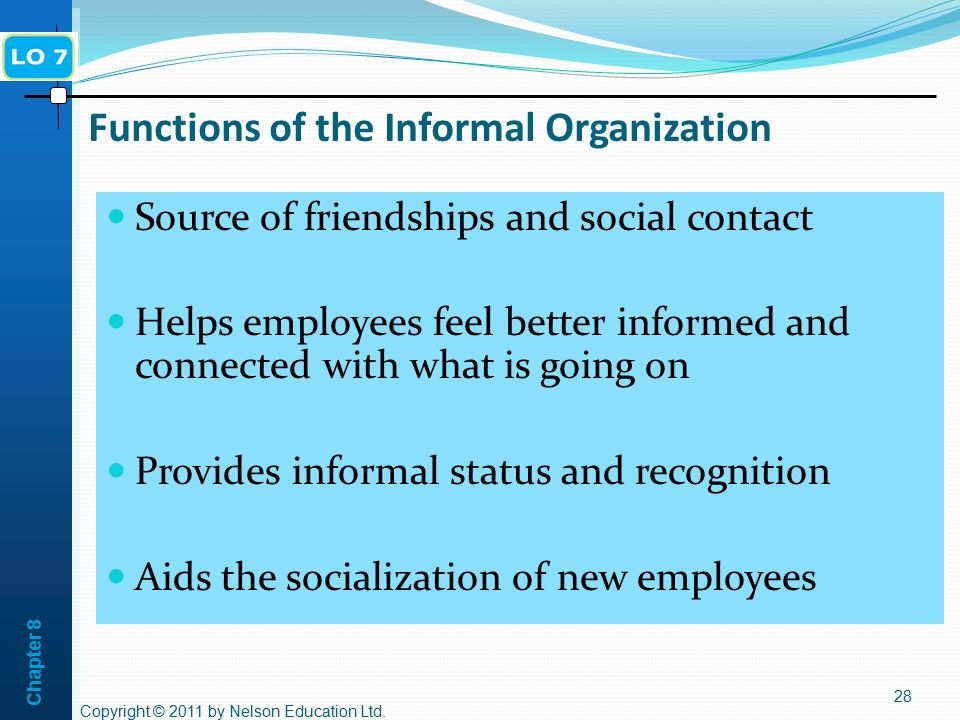 Functions of the Informal Organization