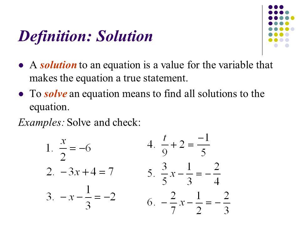 solution math definition - Ideal.vistalist.co