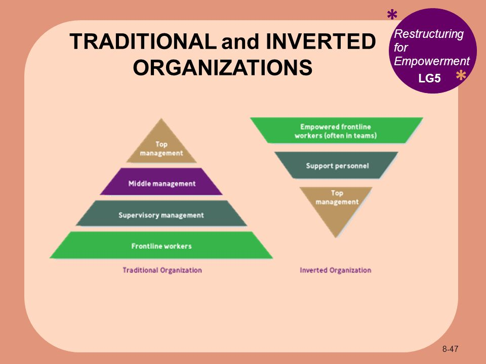 The traditional view of organisational structure