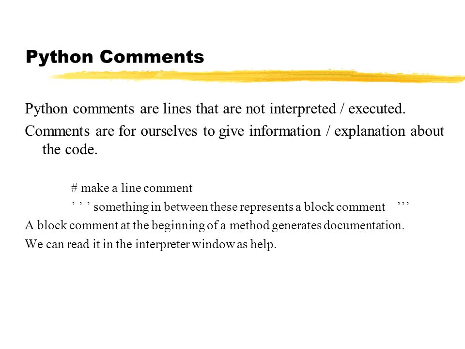python how to delete a from comment